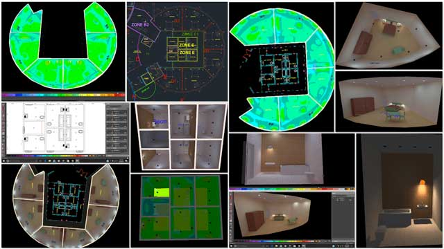 Dipti Dhondarkar, (Electrical Engineer) continued with her 31st week of work on the lighting specifics for the City Center. This week's focus was finishing our light placement and light dispersion testing for the 1st-floor bedrooms and bathrooms of the City Center Living Dome, then adding the bedroom lighting details into AutoCAD.