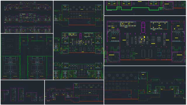 finished updating the AutoCAD files to standardized formats for the Shipping Container Village (Pod 5)