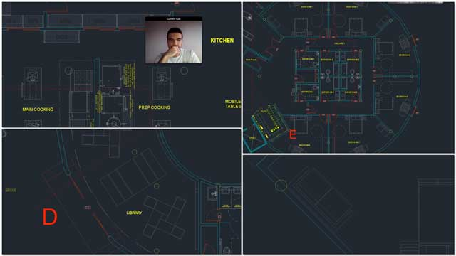Duplicable City Center AutoCAD updates, Renan Dantas: Mechanical Engineer continued with his 15th week working on the Duplicable City Center AutoCAD updates. This week's focus was adding more room and library details, and finishing the kitchen area cleanup.