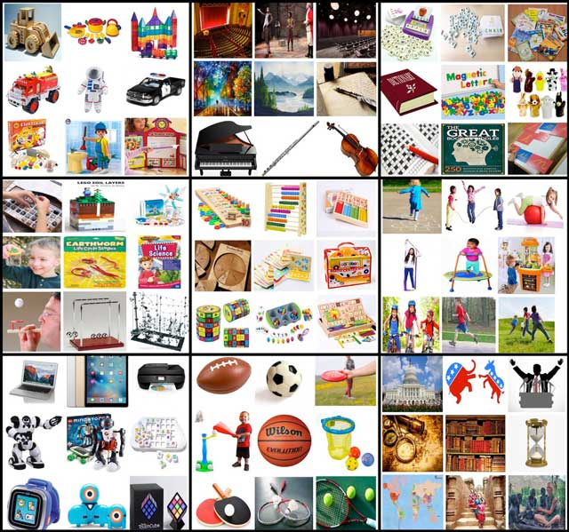 And Jennifer Zhou (Web Designer) completed these new image sets for the Learning Tools and Toys page: