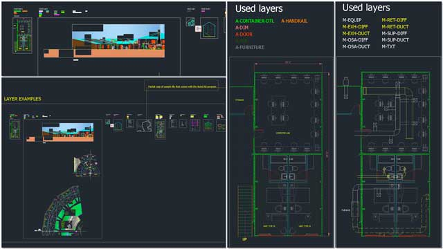 We also started creating a demo set of structures and layouts for the standardized AutoCAD layers and line-weights template and tutorial we're developing. You can see version 1.0 of these example structures here.