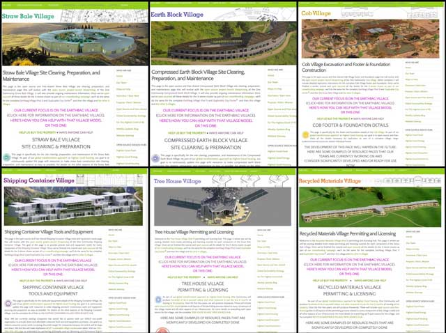 This week the core team created 22 new pages related to the open source hubs from each of the 7 villages. You can see 6 examples of these here.