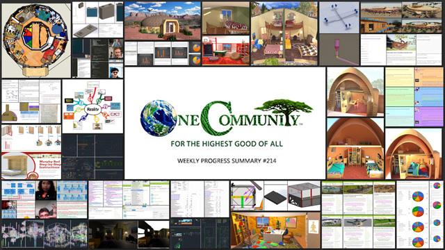One Community blog 214 collage for Building a Global Sustainability Cooperative - One Community Weekly Progress Update #214
