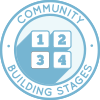 Community Building Stages, One Community, True Community, creating community, sustainable community, icon