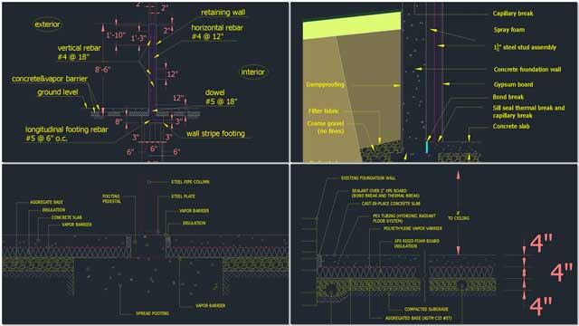 This week the core team created these detailed AutoCAD drawings for inclusion in the City Center Footers, Foundation, and Flooring tutorial.
