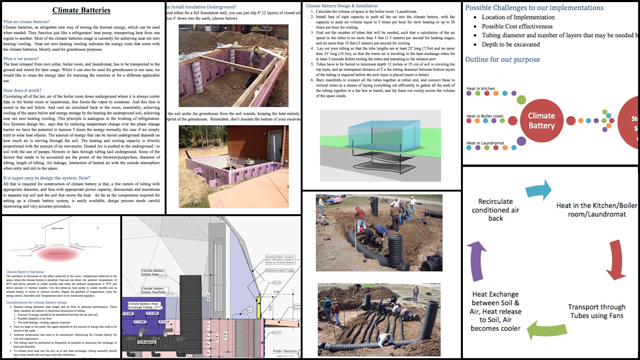 Aravind Vasudevan (BA Mechanical Engineering) also continued his work on the City Center basement heating and cooling details. This week's focus was researching how a climate battery works and can be included in our designs. You can version 1.0 of Aravind's report here.