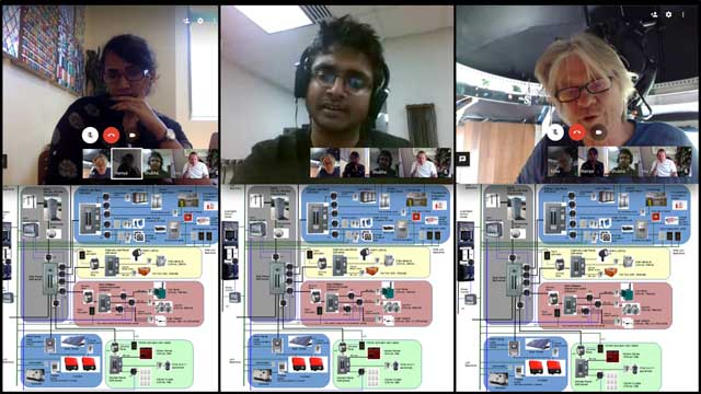 Ramya Vudi (Electrical Engineer) and Shubham Agrawal (Electrical Engineer) continued their work on the City Center electrical design and tutorials with Mike Hogan (Automation Systems Developer and Business Systems Consultant. Here are pictures from our weekly collaborative call continuing to discuss and refine the overall layout...