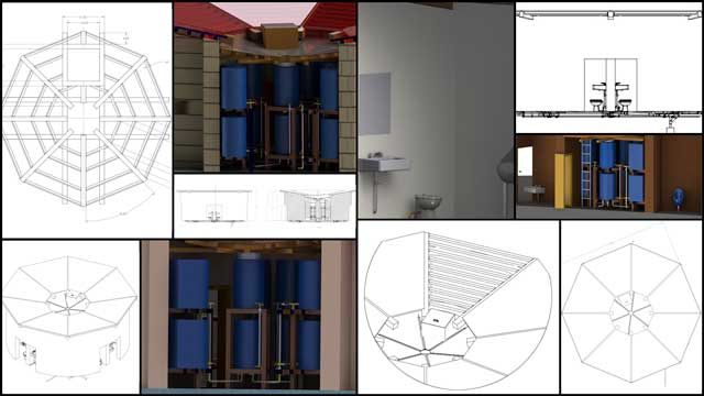 Alena Thompson (Mechanical Engineer) Continued Working on the Net-zero Communal Bathroom Designs, One Community