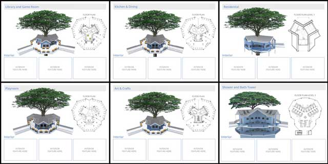 In addition to this, thecore teamcreated and added these new feature images to theTree House Village (Pod 7)page. We're seeking an interior designer to help us finish the missing images