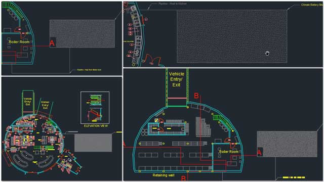 Aravind Vasudevan (BA Mechanical Engineering)also continued hiswork ontheCity CenterThermal Battery design details by beginning the process of modeling the climate battery in AutoCAD.