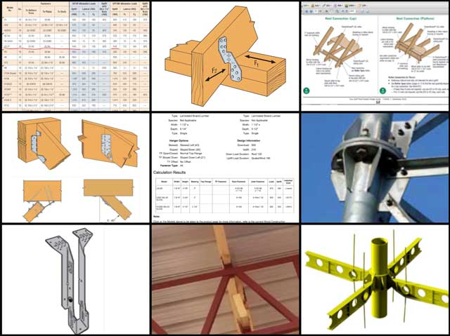 """Haoxuan """"Hayes"""" Lei(Structural Engineer)also continued the work ontheCity Centerstructural engineering. This week's focus was more research and calculations for the various types of connectors we'll be using, some of which you can see here:"""