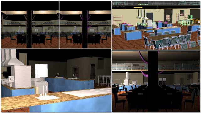 Dean Scholz(Architectural Designer)continued helping uscreate qualityCob Village (Pod 3)renders. Here is update 76 of Dean'swork,this week's focus was more dining area details and beginning the kitchen design details.