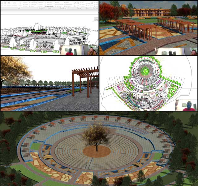 Hamilton Mateca(AutoCAD and Revit Drafter and Designer)also finished his 48th week helping with theCompressed Earth Block Villagedesign and render details.This week's focuswas additional pergola placement updates and test rendering the main village view.