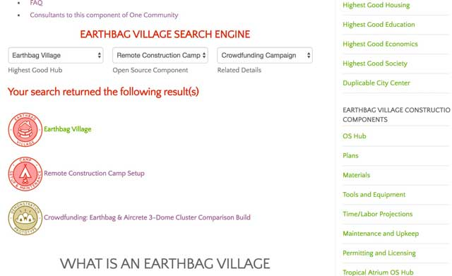 This week thecore teamcompleted the final review and added the new search engine for theEarthbag Village open source hub: