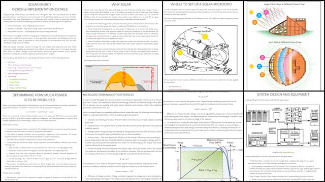 The core team also transferred, formatted, and edited the first 70% of the content for thePV Solar micro-grid tutorial, you can see some of this work here.