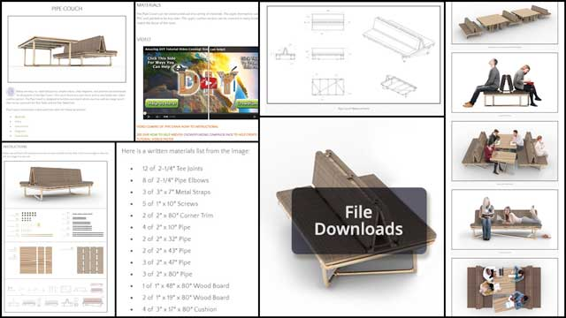 This week, the core team continued work on the DIY Pipe Furniture tutorial page. This week we created seven new images for the Diagrams section, and we created a collage for the Instructions section. The team also created the File Downloads image and worked on adding text to all of the sections.
