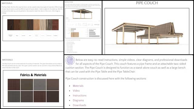 This week,the core teamcontinued work on the DIYPipe Furnituretutorial page. This week we added anchor links to both the Pipe Table section and Pipe Couch sections, added the instruction image parts list, created a new Pipe Table Materials image and Pipe Couch Materials image, andcreateda Diagrams collage and an extra Diagram image for the Diagrams section of the Pipe Table section.