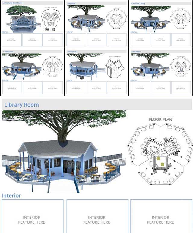 The core team also updated again all the perspectives for the Tree House Village (Pod 7) external perspectives, as shown here.