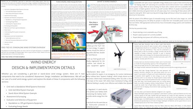 Jennifer Zhou(Web Designer)also began the first round of content additions and formatting for thewind power tutorial. You can see some pictures of this work-in-progress here.