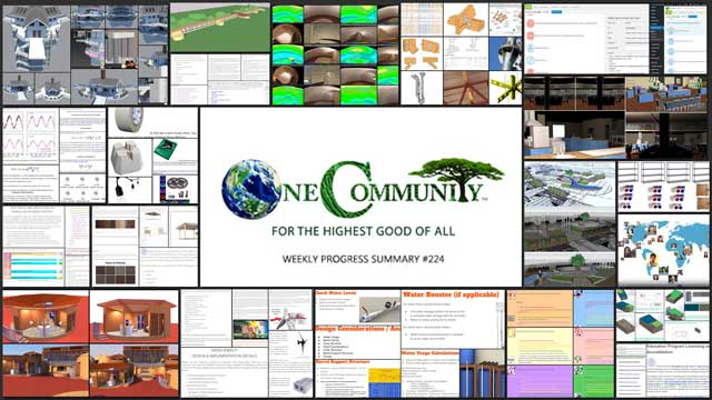 Facilitating Global Eco-Balance – One Community Weekly Progress Update #224