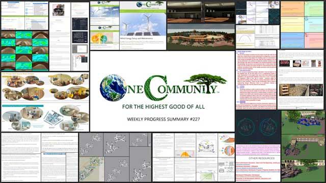 Strategic Open Source World Creation – One Community Weekly Progress Update #227