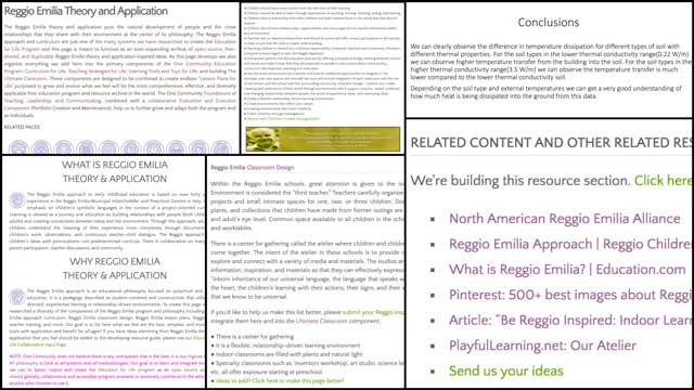 Thecore teamalsocompleted a full-page update for theReggioteaching methodology page. This included integrating all our research from two weeks ago, adding a new resource section, and updating the formatting.