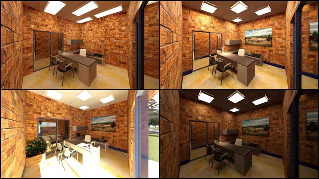 Hamilton Mateca(AutoCAD and Revit Drafter and Designer)also finished his 51st week helping with theCompressed Earth Block Villagedesign and render details.This week's focuswas working on the high-quality render details for the East-wing office spaces. You can see some of this work-in-progress here.