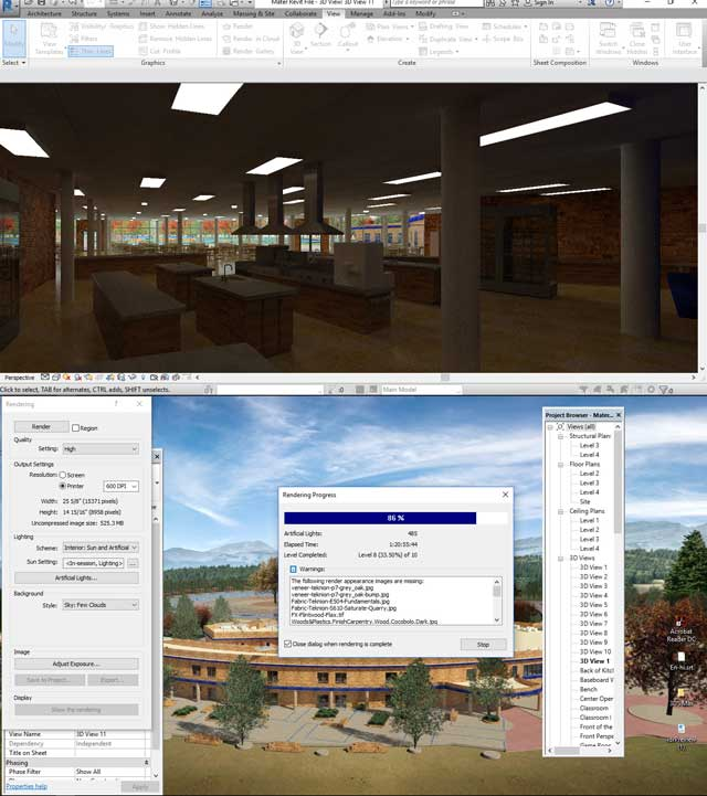 Hamilton Mateca(AutoCAD and Revit Drafter and Designer)also finished his 54th week helping with theCompressed Earth Block Villagedesign and render details.This week's focuswas beginning work on the final kitchen render looking North, as shown here.