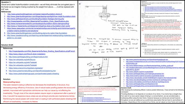 Hemanth Kotaru (Structural Engineering Masters Student)completed his 4th week with us by conducting additionalEarthbag Villageconstruction research. This week's focus was more french drain and water proofing research and you can see a summary of the findings so far here.