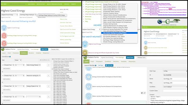 Ashwin Patil(Web Developer)finished integrating the final edits to theHighest Good energysearch engine. You can see some of this work here.