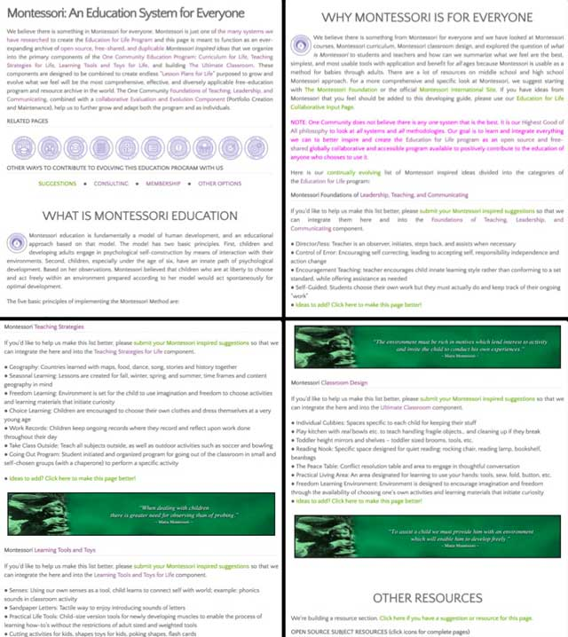 Thecore teamalso added our research from last week to theMontessori pageand updated all that page's formatting, you can see some of that work here.