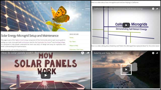Ramya Vudi(Electrical Engineer)also researched videos to add additional clarity to thePV Solar micro-grid tutorial. We added her work to the webpage and also updated the header graphic, as shown here.