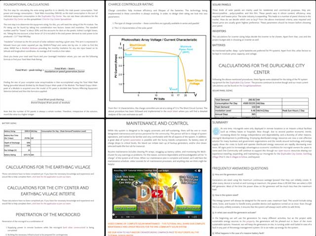 Thecore teamalso finished adding the rest of the text to thePV Solar micro-grid tutorial.
