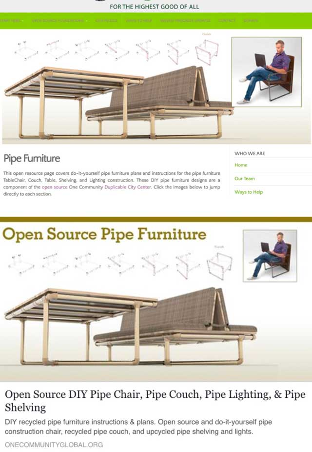 This week, the core team added the final updated header and social media images to the Pipe Furniture page and shared it for the first time across social media.