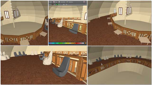 Dipti Dhondarkar,(Electrical Engineer)continued with her 45th week of work on thelighting specifics for the City Center. This week's focus was adding additional chair and table details to the Social Dome. These caused program errors and so we're exploring lesser approaches.