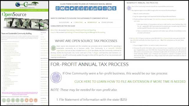 And the core team worked on proofreading and updating the formatting for the taxes page. The page is now 75% complete.