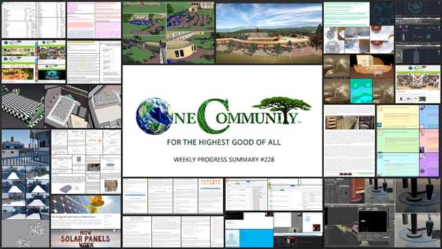 Sustainable Civilization Engineering – One Community Weekly Progress Update #228