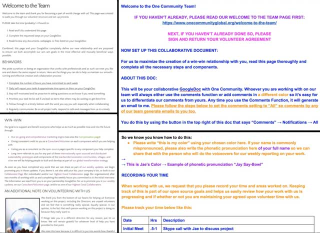 This week the core teamupdated our Welcome to the Team pageand Collaborative Google Doc template to better share for new members of the team our updated volunteer expectations and procedures.