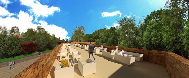 Compressed Earth Block Village, Rooftop View Looking East, One Community, Dan Alleck
