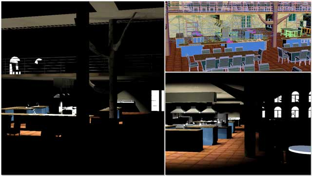 Dean Scholz(Architectural Designer)continued helping us create qualityCob Village (Pod 3)renders. Here is update 84 of Dean's work, continuing to test and develop the textures and lighting from the skylights and windows for the central dining and presentation hall.