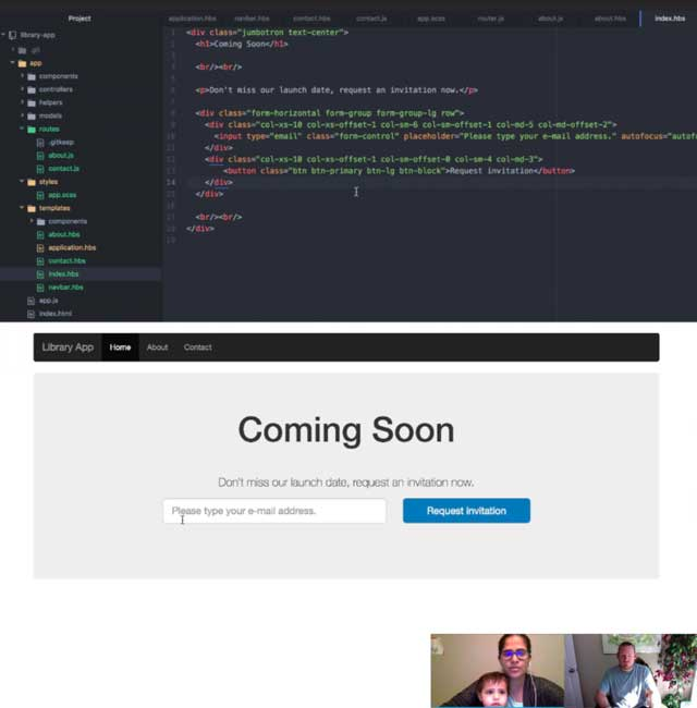 In addition to this, Neha Verma (Software Development Manager) finished her 3rd week helping with the development of the Highest Good Network software. This week's focus was learning the basics of Ember.js through online tutorials, as shown here.