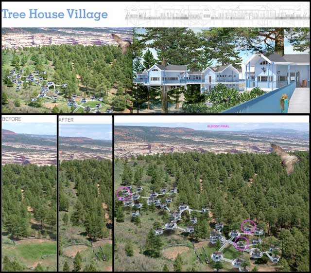 The core team also continued working on the complete Tree House Village (Pod 7) render. This week's focus was adding in tree and shadow details, improving the surrounding landscape, and creating version 1 of the website header image, all of which you can see here.