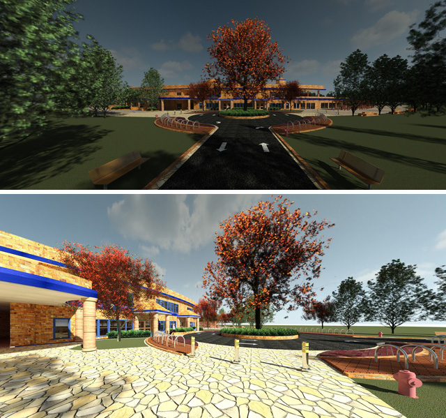Hamilton Mateca(AutoCAD and Revit Drafter and Designer)also finished his 63rd week helping with theCompressed Earth Block Villagedesign and render details. This week's focus was two new final renders of the front of the village. Both of which you can see here and live on the site too.