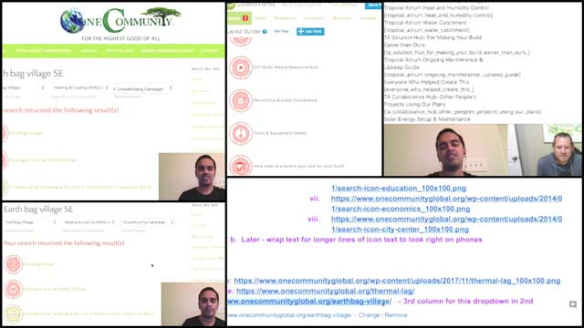 This last week the core teamand Ashwin Patil (Web Developer) continued working on the search engines for the website. This week we created a video tutorial for teaching people how to edit the search engines. You can see screenshots here from the video.