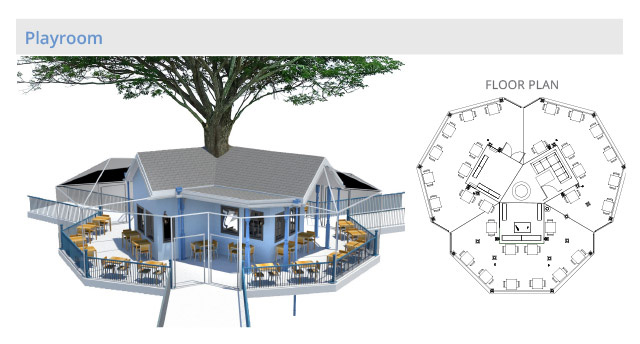tree house floor plan. Tree House Village Playroom Structure, Final Render, One Community Floor Plan I