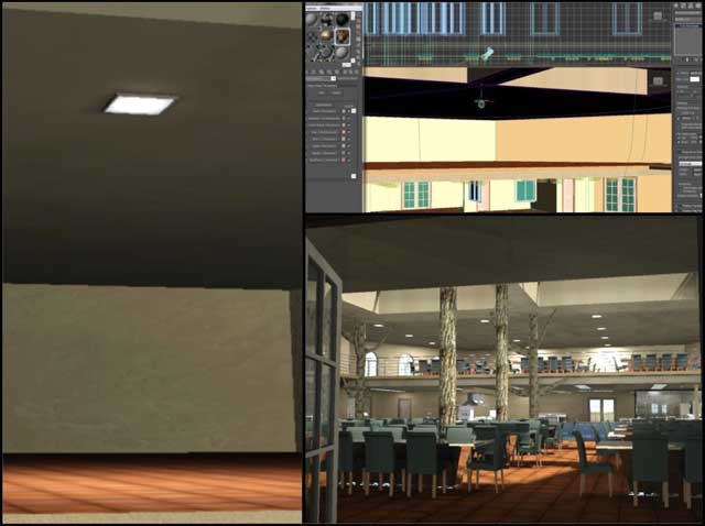 Dean Scholz(Architectural Designer)continued helping us create qualityCob Village (Pod 3)renders. Here is update 93 of Dean's work, this week's focus was continued work on the stage areas and lights that will illuminate the stages.