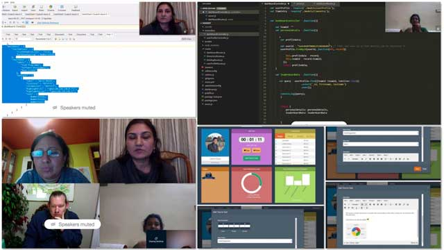TheHighest Good Network softwareteam consists ofSowmya Manohar (Software Engineer, Web Developer & Net Application Developer),Priti Kothari (Information Technology Enthusiast),Shubhra Mittal (Software Delivery Manager), andPriyanka Singh (Software Developer). This week they finalized the application schema, merged the time entry updates, researched front-end role-based functionality options, and tried both collection and separate-collection approaches as a test. What you see here are some of this work along with pictures from our weekly collaborative call.