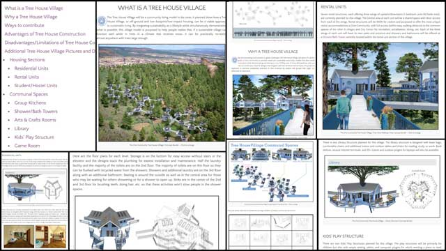 Thecore teamalso finished the first half of updating the completeTree House Village (Pod 7)open source hub. This included all new menus, formatting, and updated content covering the What, Why, and description sections for every structure within this village, as shown here.