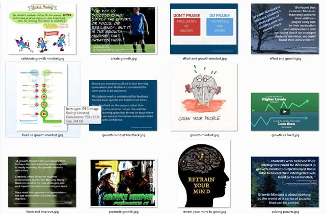 This week, the core teamcontinued researching images to add to the educationEvaluation and Evolution process open source pages and tutorials. We found 12 additional images for the Collaborative Ongoing Growth Strategies page, as you can see here.