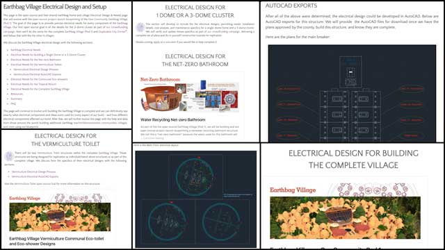 And core team finished the formatting, image updates, and text additions for the Vermiculture section of the Earthbag Village electrical design page.